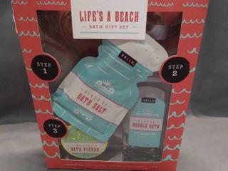 lifes a Beach Bath Gift Set