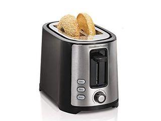 Hamilton Beach 2 Slice Extra Wide Slot Toaster with Shade Selector  Toast Boost  Auto Shutoff  Black  22633