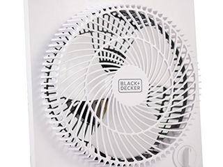 BlACK DECKER Mini Box Fan Tabletop Quiet 9 Inch Desk Box Fans Frameless BFB09W White