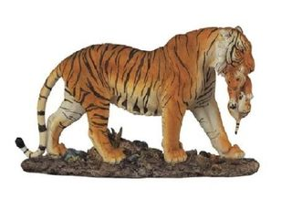 Q Max 11 W Orange Bengal Tiger Mother Carrying Cub Wild Cat Animal Figurine  Retail 95 49