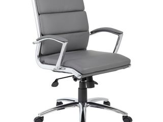 Contemporary Executive Chair Gray   Boss Office Products