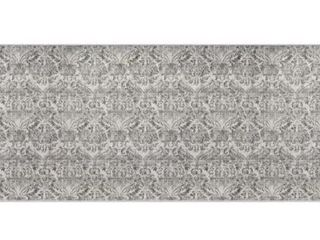 NeverMove Washable Designer Rug By GelPro Biscayne Grey Fog   24 x76  Retail 78 98