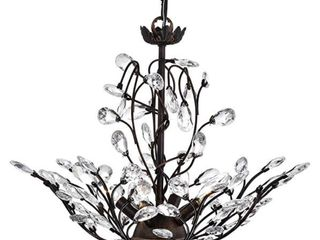 Holly 4 light Antique Copper Crystal leaves Flush Mount  Retail 103 99