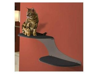 The Refined Feline Cat Cloud Cat Shelves in Titanium  left Facing