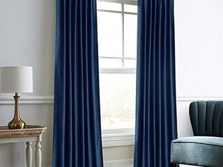 Dreaming Casa Royal Blue Velvet Room Darkening Curtains Panel Pair  52  W x 108  l