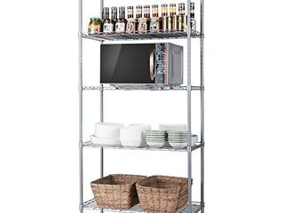 SINGAYE 5 Tier Storage Rack Wire Shelving Unit Storage Shelves Metal