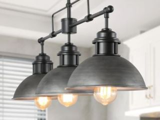 linear Pot lid Pendant  3 lights
