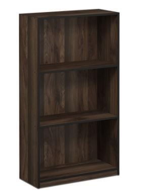 Furinno Basic 3 Tier Bookcase Storage Shelves