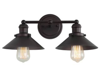 July 17 5  2 light Metal Vanity light  Oil Rubbed Bronze