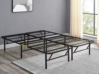 Amazonbasics Foldable Full Metal Platform Bed Frame 14 Inch Height for Under bed