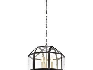 Caro Collection Pendant D14 H15 lt 3 Black Finish  Retail 198 00
