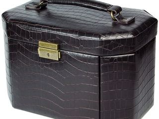 leatherette luxury lockable Jewelry Box