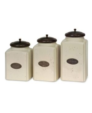 IMAX Ivory Canisters  Set of 3