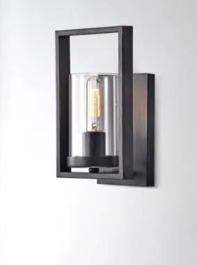 Anastasia Antique Black Single light Wall Sconce with Clear Glass