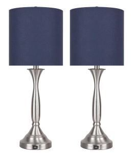 25 5  Metal Table lamps Set of 2