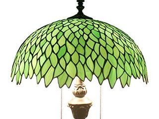 Tiffany Floor Standing lamp 64 Inch Stained Glass Green Wisteria Style Shade