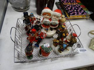 lot of Christmas Nutcrackers and Decor
