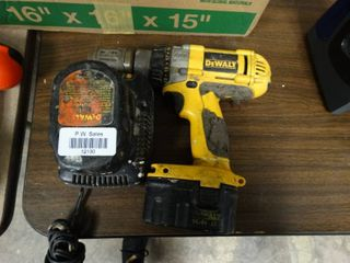 DeWalt Heavy Duty Cordless Drill with Extra Battery and Charger