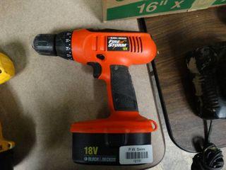 Black   Decker Fire Storm 18V Drill