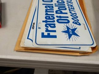 lot of Fraternal Order of Police and Kansas Sheriff s Association license Plates