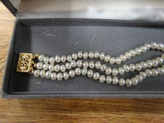 14K Triple Strand Bracelet