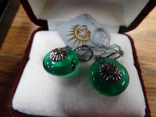 Pair of Green Earrings