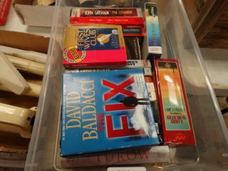 lot of Audiobooks  TOTE NOT INClUDED BRING OWN BOX