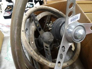 lot of Boat Steering Wheels
