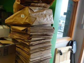 large lot of Brown Paper Bags