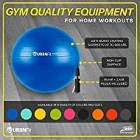 Yoga Ball W Air Pump Anti Burst Exercise Balance Workout Stability   75cm