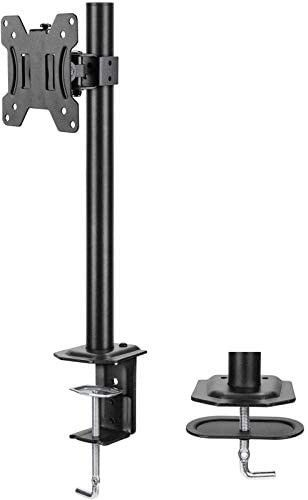 HUANUO Single Monitor Mount  lCD Computer Monitor Stand for13 inch to 32 inch Screen  Adjustable Height  Tilt  Swivel  Rotation  Weight up to 17 6lbs