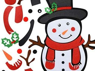 Felt Christmas Snowman  Felt Snowman Games Set with 26pcs Detachable Ornaments Xmas Gifts for Toddlers Kids Christmas Wall Hanging Decorations  22 5 x 18 9 Inch  Black Hat   set of 2