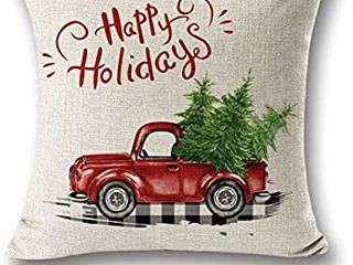 Christmas Decor Throw Pillow Cover Cushion Cover 18 X 18   see pictures for design