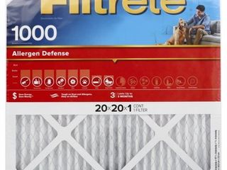Filtrete Micro Allergen Reduction Filter  1000 MPR  20 Inch by 20 Inch by 1 Inch  4 Pack
