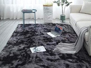 Fuzzy Abstract Area Rugs for Bedroom living Room Fluffy Shag Fur Rug for Kids Nursery Dorm Room Cozy Furry Rugs Plush Throw Rug Shaggy Decorative Accent Rug for Indoor Home Floor Carpet  roughly 6 x9
