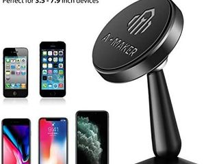 Magnetic Phone Car Mount  A Maker 360ARotation Car Phone Holder for Dashboard  Magnetic CellPhone Holder for Car Compatible with iPhone 11 Pro Max   11   XS Max XS   8 7 Plus and More