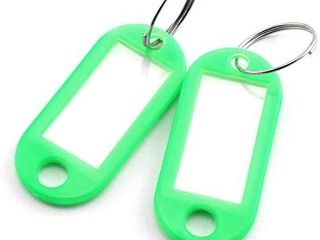20pcs Green Key Ring label Tags Plastic Keys Holder and Identifier Name Number Address Information label Card for Keys ID 5x2 2cm