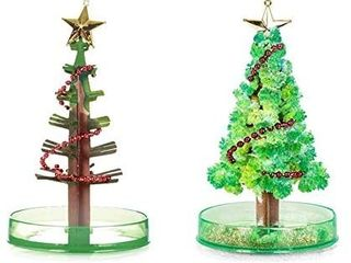 2 sets Magic Growing Christmas Tree Amazing Christmas Tree Funny Crystal Gift Toy Stocking Decorations Paper Tree Xmas Ornaments Wall Hanging Gifts Presents Novelty Kids DIY for Kids Funny Educational