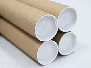 2 inch x 36 inch  Mailing Tubes with Caps  4 Pack    MagicWater Supply