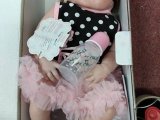 Pinky 24 inch 61cm lovely Reborn Baby Girl Doll Reborn Toddler Realistic looking lifelike Baby Doll