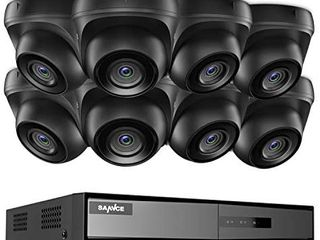 SANNCE 8CH 1080P lite Home Security Camera System and  8  1080P Outdoor IP66 Weatherproof Dome Cameras with 100ft EXIR Night Vision lEDs  Motion Detection with Image  NO Hard Drive