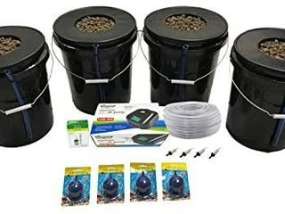 Viagrow VDIY Bucket Deep Water Culture Hydroponic 4 Plant System  Black