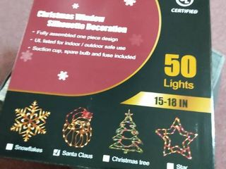 lighted Santa Claus Christmas Window Silhouette   17 5 Inch