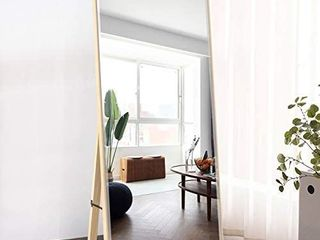 PexFix Wall Mirror Full length  47 x16  on The Door Mirror Brushed Thin Aluminum Alloy Frame Dressing Mirror Floor Mirror Rectangle Decoration