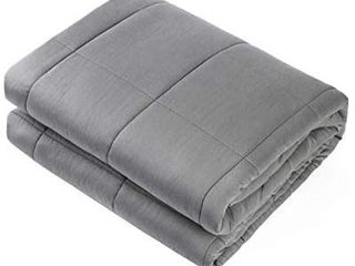 Waowoo Adult Weighted Blanket Queen Sizei1 415lbs 60 x80 i1 4 Heavy Blanket with Premium Glass Beads   Dark Grey
