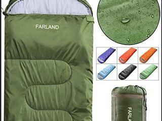FARlAND Sleeping Bags 20a for Adults Teens Kids with Compression Sack Portable and lightweight for 3 4 Season Camping  Hiking Waterproof  Backpacking and Outdoors