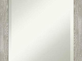 Framed Vanity Mirror   Bathroom Mirrors for Wall   Dove Greywash Narrow Mirror   Wall Mounted Mirror   Small Mirror   23 50 x 19 50 in