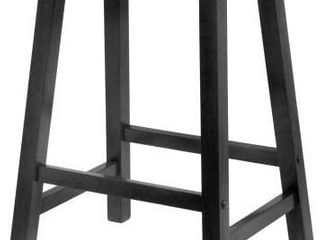 PJ Wood 24 Inch Saddle Seat Counter Stool