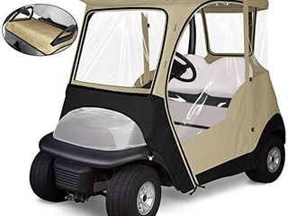 KAKIT 800D Fairway 4 Sided 2 Person Golf Cart Enclosure Custom fit Club Car Precedent 2000 2019  Seat Cover Included