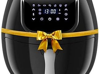 Rozmoz Air Fryer  7 in 1 Electric Air Fryers Oven with Automatic Shutoff   Overheat Protection  1400W Oil less Air Fryersi1 4Nonstick Basket  lED Touchscreen  4 2QT  Black